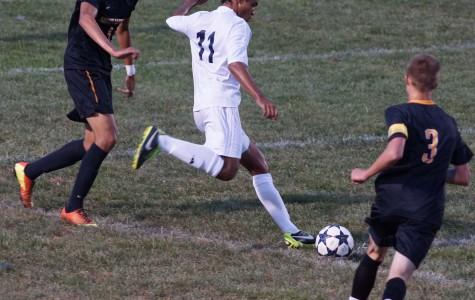 Brett LaBonte in the boys varsity soccer game.