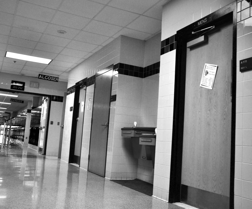 Locking the bathroom doors during third block is raising questions.