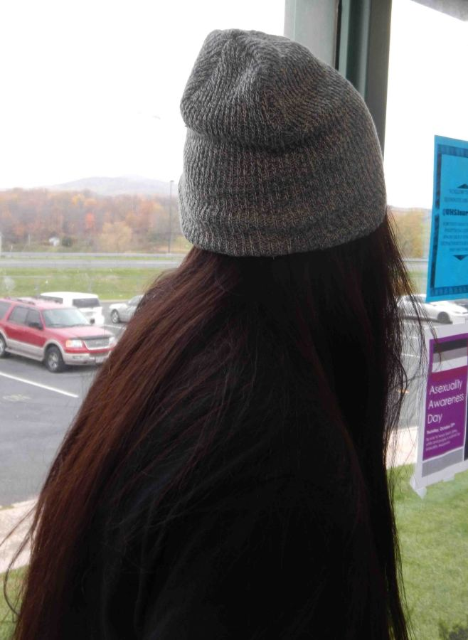 Student wears one of the top winter fashion trends.