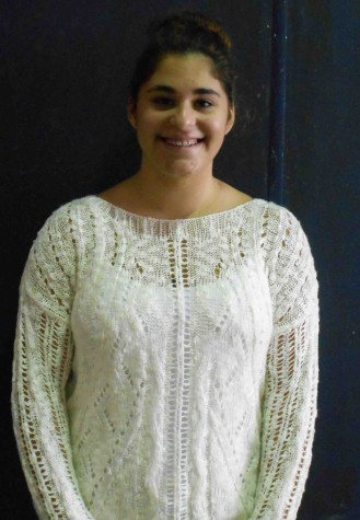 Senior, Margureite Haddad, who likes to sing and is in chamber ensemble.