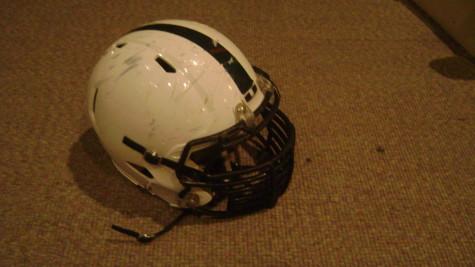 An Urbana High School football helmet.