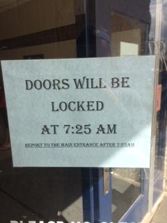 School Begins to Lock Doors at 7:25AM