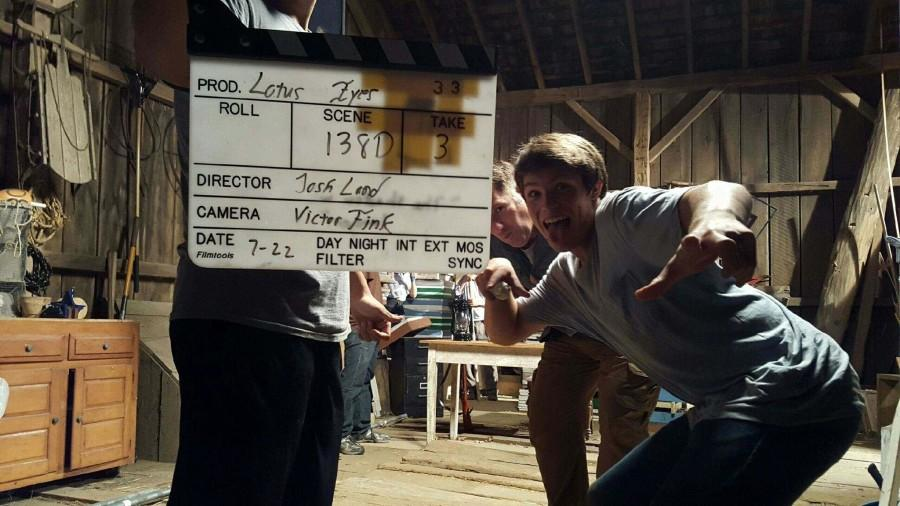 Mitch Holson on the set of AMC's Making of the Mob.