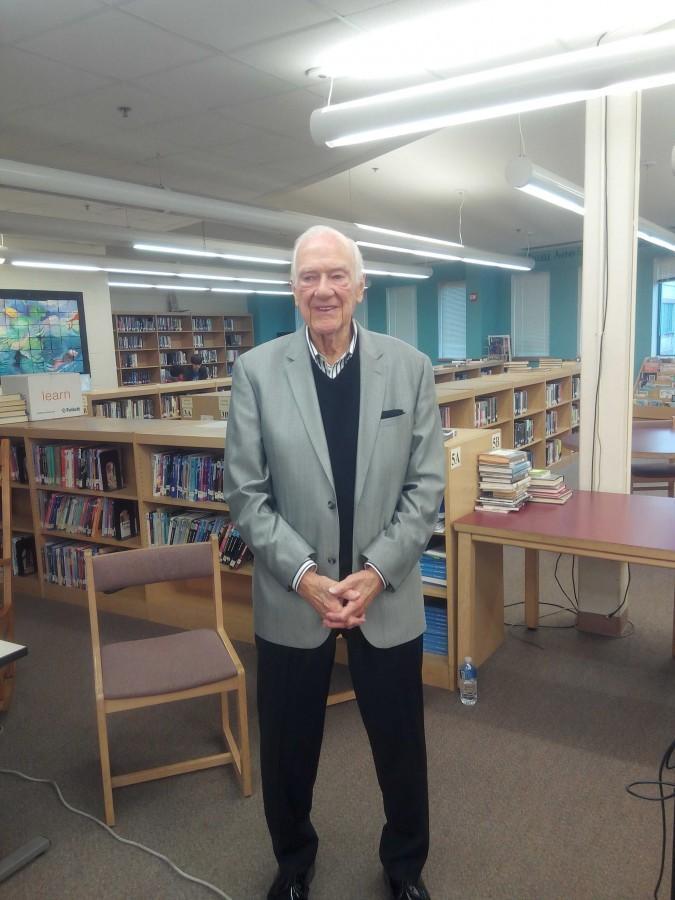 WWII Veteran Art Staymates visits Urbana High School