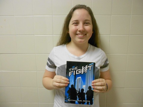 New author, Brittany Bostic poses with her new novel.
