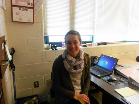 Eickelberg, originally a New Yorker, settles down in her classroom, where she teaches Math.