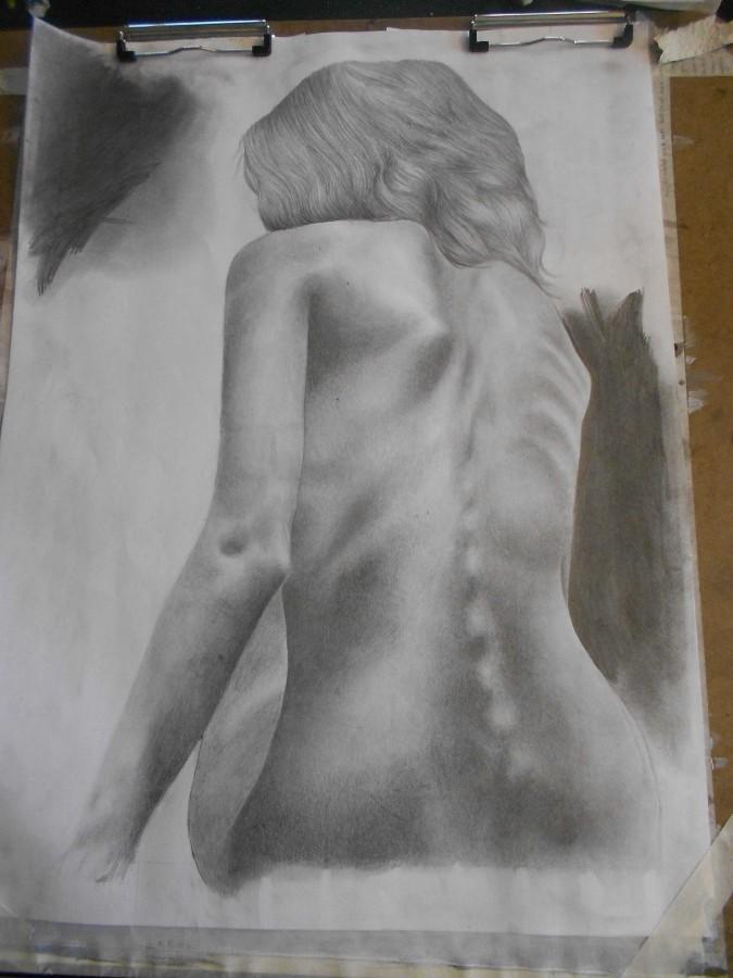 One of Danielle Leizman's graphite drawings.