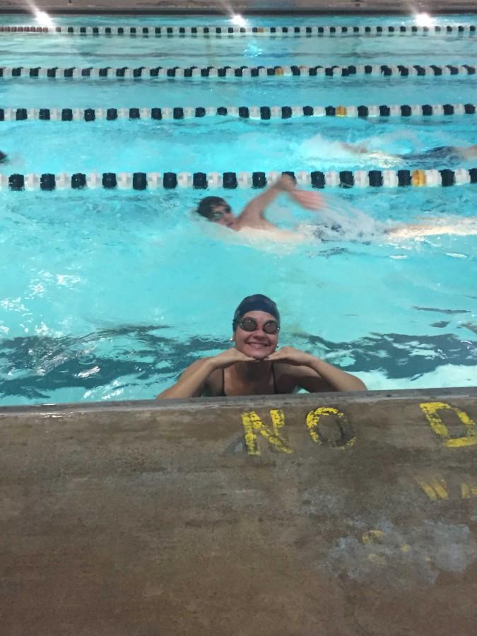 Kimmy Cummings at Urbana swim practice.