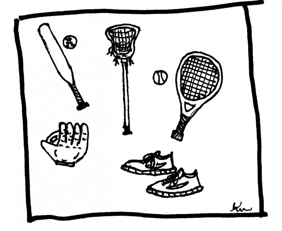 Spring Sports Cartoon 001