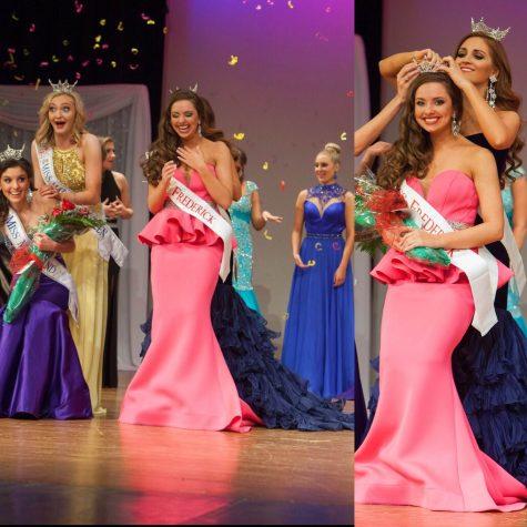 Senior Sarah Robinson wins the Miss Frederick Beauty Pageant.