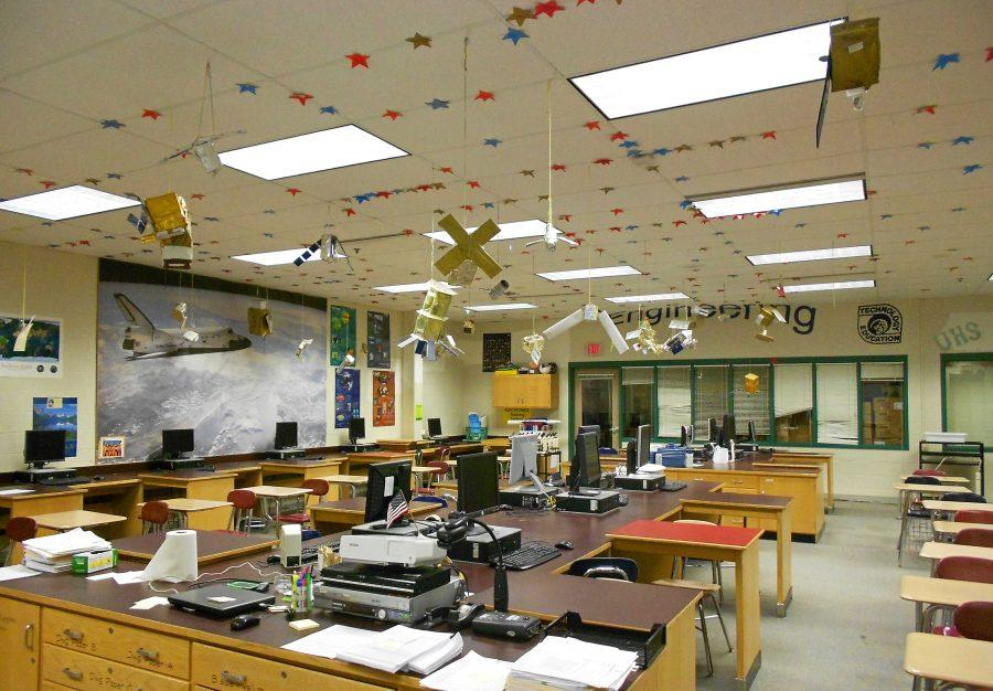 Ms. McCooks room is full of new science classes this year.