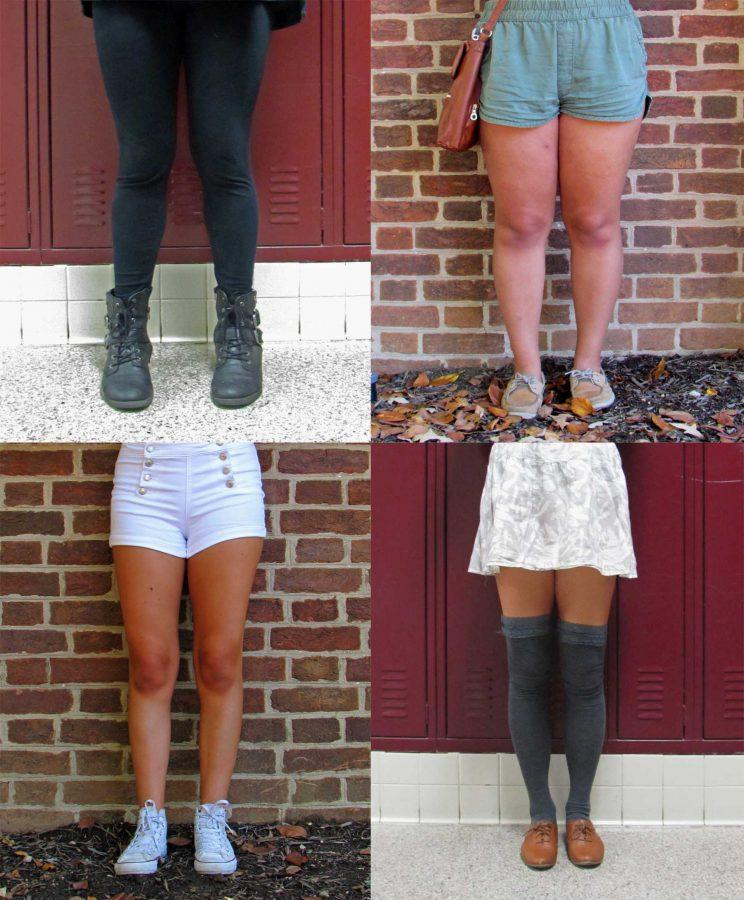 Examples of common styles worn by girls in Urbana.
