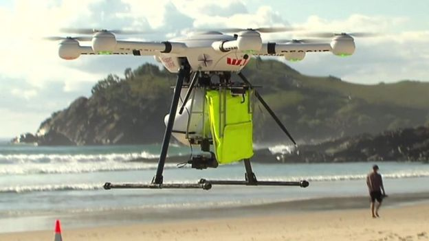 Drone+at+a+beach+in+Australia.+Photo+Courtesy+of+BBC+News.