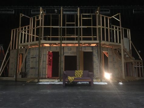 "The in-progress set for ""Noises Off""."
