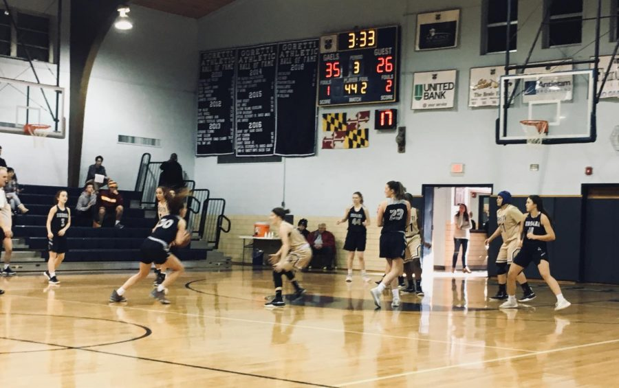 Girl's Varsity Basketball defeated by the Gaels despite hard-fought game: Photo of the Day: 2/2/19