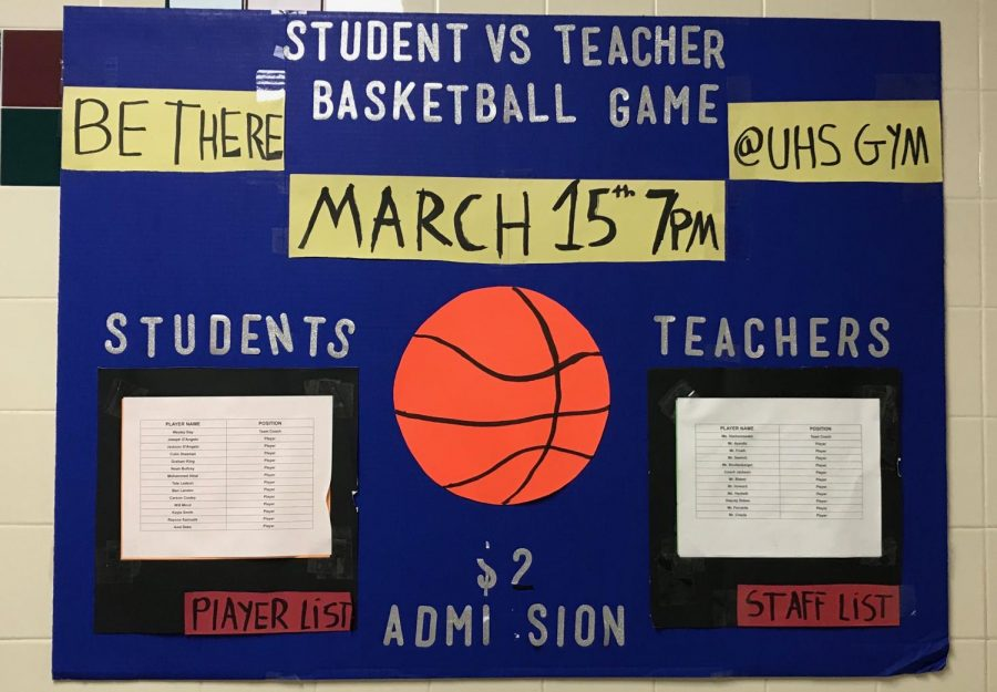 Mini-Thon Student vs. Teacher basketball game on the 15th
