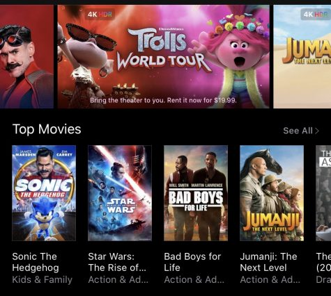 The current iTunes layout for purchasing and renting movies.