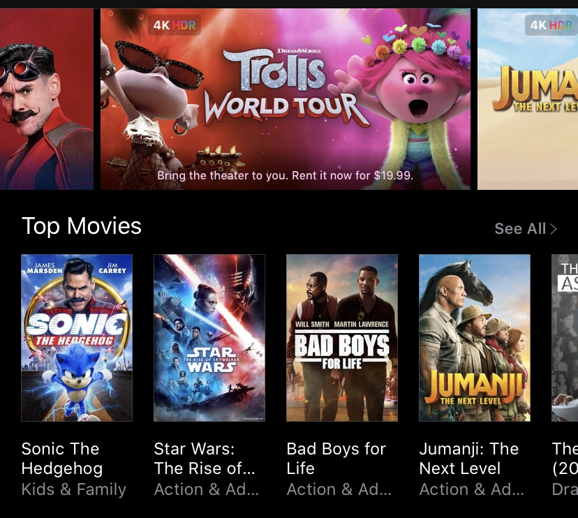 The+current+iTunes+layout+for+purchasing+and+renting+movies.